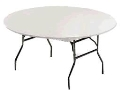 Where to rent TABLE COVER PLASTIC 60  ROUND in Kalamazoo MI