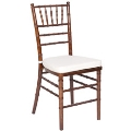 Where to rent CHAIR, FRUITWOOD CHIAVARI W  IVORY PAD in Kalamazoo MI