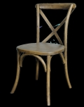 Used Equipment Sales CHAIR, LUCCA X-BACK WOOD CHAIR RUSTIC in Kalamazoo MI