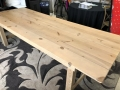 Where to rent TABLE, FARM TABLE 9  X 40  NATURAL in Kalamazoo MI
