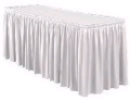 Where to rent SKIRT, 13  WHITE  3-SIDESOF 8  TABLE in Kalamazoo MI